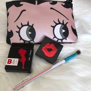 Ipsy's BettyBoop Bag , eyeshadow, brush, New